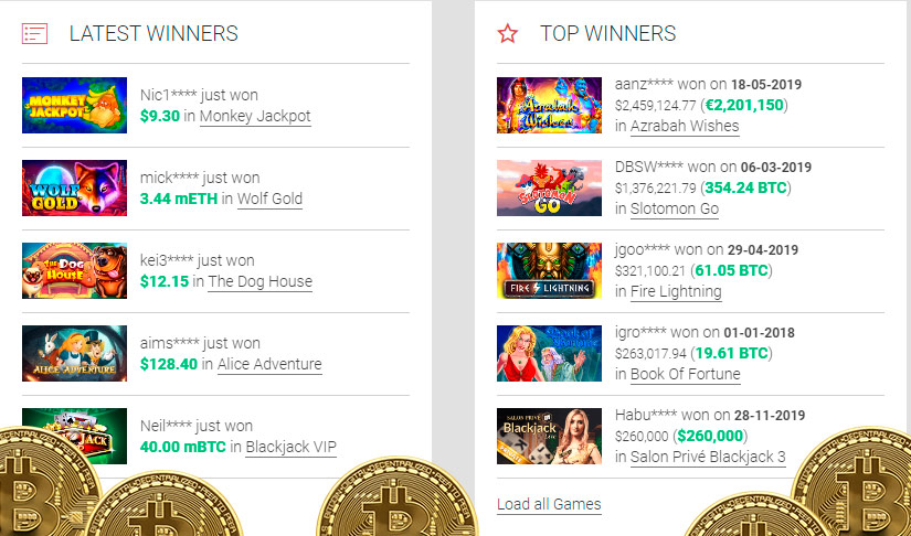 Win real money online bitcoin slot machines